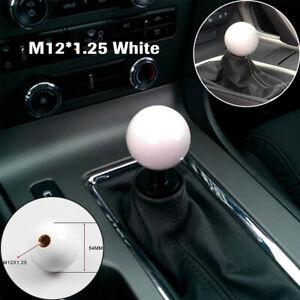 1PC Car Thread Shift Knob Ball Short Throw Shifter Lever Knob M12*1.25 White