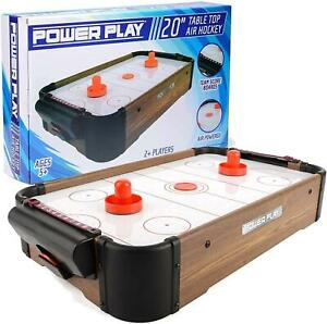 """Power Play 20"""" Air Hockey Table Top Game with Pucks and Pushers"""