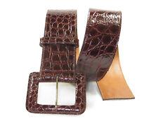 """NOS Beauty Women's LAI genuine CROCODILE  belt siz S/29"""" 2 1/8"""" wide U.S.A. $699"""