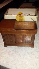 VINTAGE DOLLHOUSE MINIATURE DRY SINK  ORIGINAL BOX   1-12 RATIO