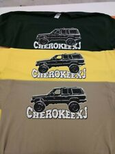 Jeep Cherokee XJ  t-shirt Gildan black green yellow XL