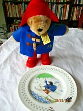 "Paddington Bear plate Coalport china  7 1/8"" umbrella water skiing"