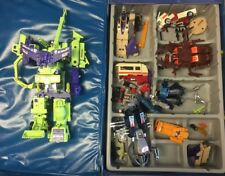 Vintage 1984 Transformers G1 Constructicons Devastator Lot Storage Case