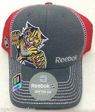 NHL Florida Panthers Reebok Flex Fit Cap Hat Style # M077Z NEW!!