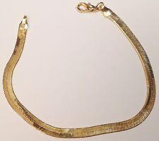 bracelet rétro couleur or rhodié maille serpent souple et plat brillance 264