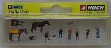 NOCH 36634 Stable Workers, Horses & Accessories  'N' Gauge Model Railway Figures