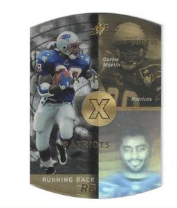 CURTIS MARTIN 1998 UPPER DECK SPX GOLD DIE CUT PARALLEL #28 $25.00 HALL OF FAME