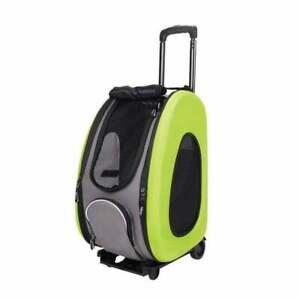 Ibiyaya EVA Portable Pet Carrier/Wheeled Carrier For Dogs Green