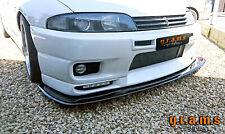Splitter / Front Bumper Lip + RODS for Nissan Skyline R33 R32 Racing Drifting v8