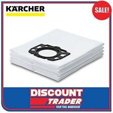 Karcher Fleece Filter Bag for Vacuum MV 4 MV 5 MV 6 - 4 Pack - 2.863-006.0