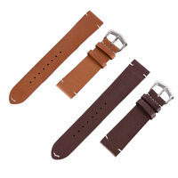 18-22mm Men Women Genuine Leather Black Brown Watch Band Strap Buckle 1Pcs A60
