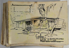 c1950s Western Cabanas & Ramadas J. Herbert Brownell Modern Architecture Drawing