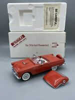 Danbury Mint 1:24 1956 Red Ford Thunderbird Convertible w/Hardtop Box Mint