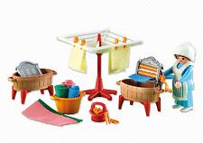 Playmobil 6526 Victorian Western Castle Laundress Washerwoman & Furniture NEW