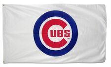 FREE SHIP TO USA Chicago CUBS MLB 3x5 Feet White Logo FLAG BANNER sign souvenir