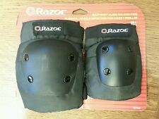 NEW RAZOR MULTI-SPORT ELBOW AND KNEE PADS 97760 BLACK AGES 8+
