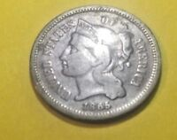 1865 3 Cent Nickel Trime