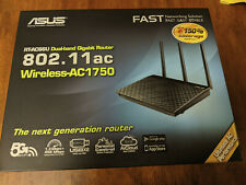 ASUS RT-AC66U Dual-band Gigabit Router - Wireless-AC1750 - 802.11ac - Complete