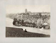 Albumen Print Panorama View de Berne Suisse Switzerland 1860s William England