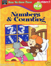 32pg Learning Horizons NUMBERS & COUNTING School Workbook Made in the USA PreK-K