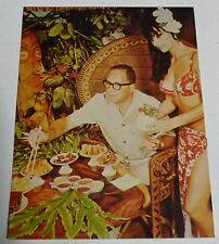 Vintage Unused TIKI BAR Hawaii LUAU FL Restaurant Postcard b11