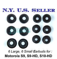 6L + 6S Motorola S9 S9-HD S10-HD replacement earbuds - Motorokr eargel eartips