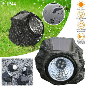 LED Solar Simulation Stone Light Outdoor Waterproof Garden Landschaft Licht Lamp