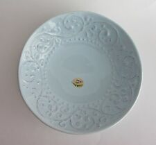 Sweet Ceramics Light Blue Embossed SOUP SALAD PASTA BOWLS Italy Set -4 NEW