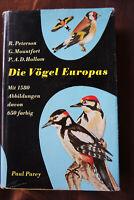 Die Vögel Europas   Peterson   Mountfort  Hollom  mit Abbildungen  gebunden   xx