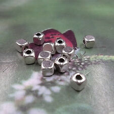 Lot 40 Perle Cube 4mm Argente Acrylique perle intercalaire creation bijoux