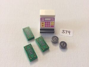 Lego 1 X Cash Register Machine Till With Dollar Money As Photo