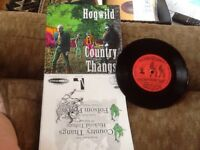"""Hogwild """"Country Thangs Hickoid Tribute/Folsom Prison"""" 1st Press #90 Of 500 45"""