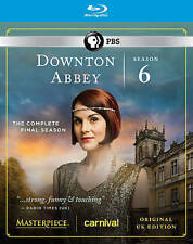 Masterpiece: Downton Abbey - Season 6 (Blu-ray Disc, 2016, 3-Disc Set) New