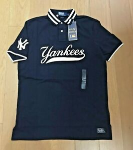 Polo Ralph Lauren NY Yankees Classic Fit Mesh Polo Shirt NAVY Limited Edition