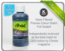 Rihac 500ml Refill Inks for Brother LC233 printer 5 x 100ml CISS C M Y K colours