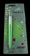 Parker, Jotter Ballpoint Pen, Green and Chrome