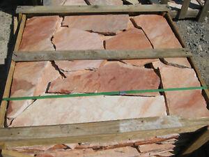 Polygonalplatten Naturstein Terrassenplatten Quarzit aus Brasilien Rio Pink