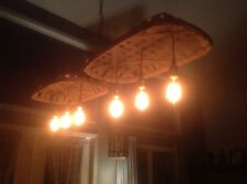 Double Tobacco Basket Chandelier, Edison Style Bulbs, Countryside Lifestyle, Rus