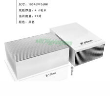 Aluminum Heat Sink Heatsink Radiator For LED High Power Amplifier 100x69x36mm
