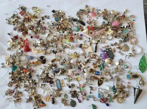 Vintage Modern Odd Earring Joblot Bundle Collection Craft Pendant Making 10