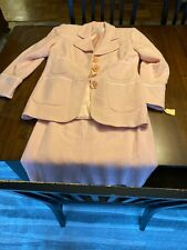 Women's Saks Fifth Ave Folio Size 6 Suit Jacket & Skirt Pink NWT!!