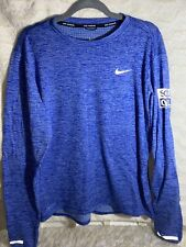 NIKE Therma Sphere Element DriFit Long Sleeve Running Shirt Soul Cycle SZ L BLUE