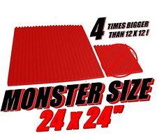24x24 red  Soundproofing Studio Foam Acoustic Wedge Panel tile wedge  studio