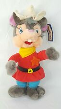 Vintage 1986 Universal City Studios An American Tail FIEVEL Plush Sheriff