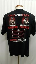 Mayweather vs. Pacquiao Boxing Match Tee T Shirt Adult XL Black MGM Grand Vegas