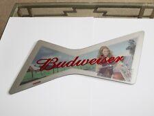 Budweiser Beer Mirror - Girl on Motorcycle