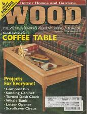 Woodworking Wood Magazine Full Size Patterns Coffee Table Whale Bank Clock 95