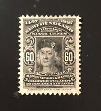 Stamps Canada Newfoundland Sc74 60c King Henry Vii of 1897, Pl see description.