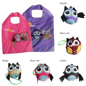 1Pc Owl Foldable Reusable Portable Shopping Bag Tote Shoulder Bag Tote Bag
