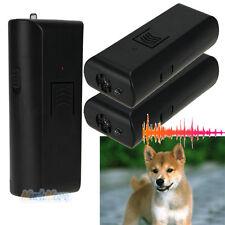 2x Ultrasonic Anti-Bark Aggressive Dog Pet Repeller Humune Stop Barking Training